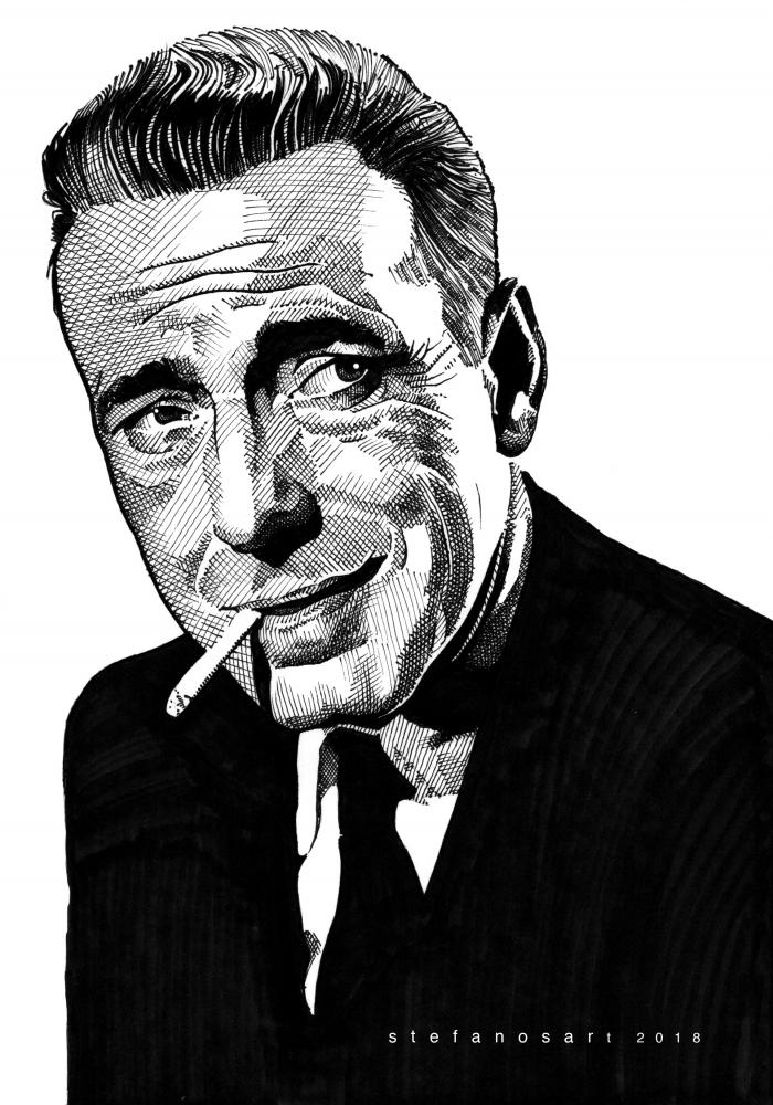Humphrey Bogart par Stefanosart